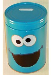 Sesame Street - Cookie Monster Round Tin Money