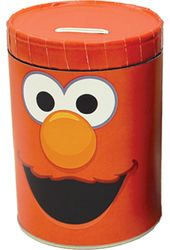Sesame Street - Elmo Round Tin Money Bank