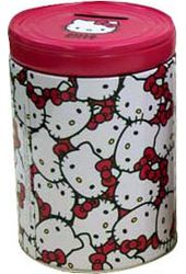 Hello Kitty - Round Tin Coin Bank