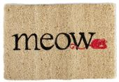 "Meow - Natural Colored 18"" x 12"" Coir Mat"