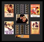 Gone With The Wind - Framed Montage Film Cell