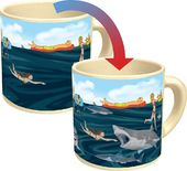 Man Eating Shark Mug - Heat Activated Shark