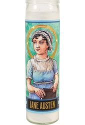 Jane Austen Secular Saint Candle