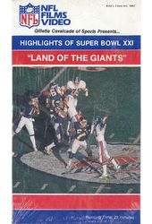 "Football - Highlights of Superbowl XXI: ""Land of"