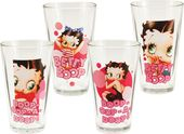 Betty Boop 4 pc. 16 oz. Glass Set