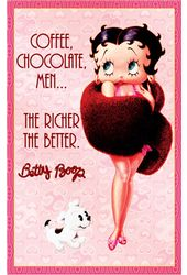 "Betty Boop - ""Coffee, Chocolate & Men"" Large Tin"