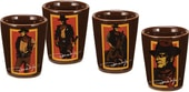 John Wayne - Signature - 4-Piece Ceramic Shot