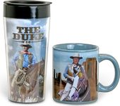John Wayne - Duke - 12 oz. Ceramic Mug & 16 oz.
