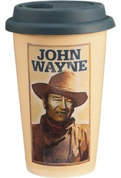 John Wayne - 12 oz. Double Wall Ceramic Travel Mug