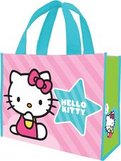 Hello Kitty - Pink Stripes - Large Recycled