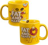"The Simpsons - ""Fat & Happy"" 20 oz. Ceramic Mug"
