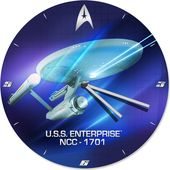 "Star Trek - 13.5"" Cordless Wood Wall Clock"