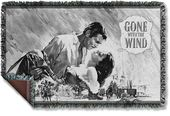 Gone With The Wind - Black & White Poster - Woven