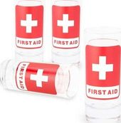 Emergency First Aid - 4-Piece Shot Glass Set