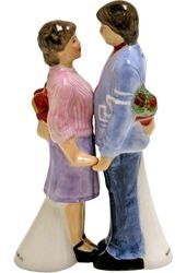 Happy Days - Joanie & Chachi - Ceramic Salt &