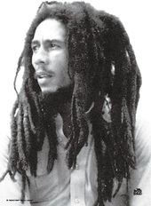 Bob Marley - Black & White Portrait: Flag /