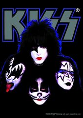 "KISS - Four Faces - Flag / Poster / Scarf (30"" x"