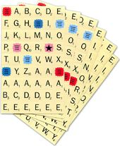 Scrabble - Tile Stickers - Set of 6 Sheets