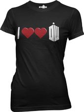 Doctor Who - Double Heart T-Shirt (Medium)