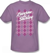 Laverne & Shirley - Argyle Gals T-Shirt (Large)