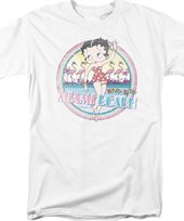 Betty Boop: Miami Beach - T-Shirt