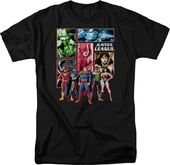 Justice League Panels - T-Shirt (Size: Adult XL)