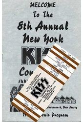KISS - Convention Guide & Ticket: 8th Annual New