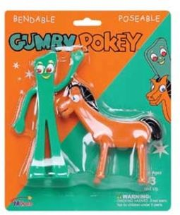 "Gumby - Gumby & Pokey - Bendable 6"" Action Figures"