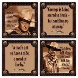 John Wayne - Quotes - 4-Piece Wood Coaster Set