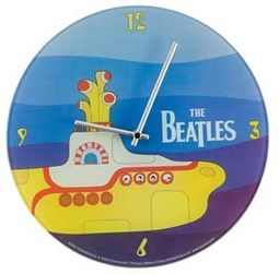 "Yellow Submarine: 12"" Glass Wall Clock"