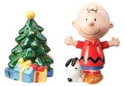 Peanuts - Christmas Tree Salt & Pepper Set
