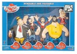 Retro Bendable Figure Boxed Set