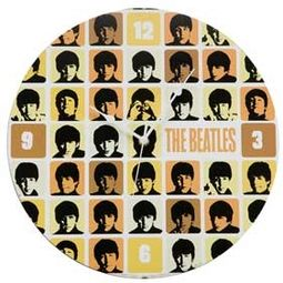 "The Beatles - 13.5"" Cordless Wood Wall Clock"