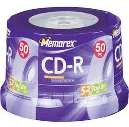 Memorex 52x Write-Once CD-R (50 Disc Spindle)