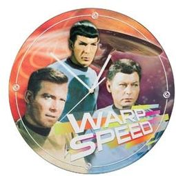 "Star Trek - Warp Speed: 13.5"" Cordless Wall Clock"