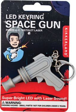 Space Gun - LED Keychain with Sound