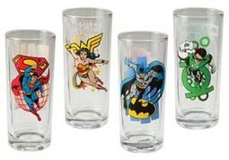 DC Comics - Characters - 4-Piece 10 oz. Glass Set