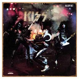 KISS - Alive - Album Cover - Tin Sign