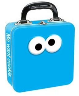 Sesame Street - Cookie Monster Square Tin Tote