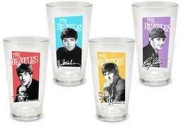 The Beatles - Portraits: 4 Piece 16 oz. Glass Set
