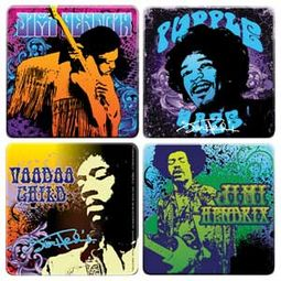 Jimi Hendrix - 4-Piece Wood Coaster Set