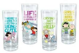 Peanuts - 4 Piece 10 oz. Glass Set