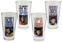 Star Trek - 4 Piece 16 oz. Glass Set