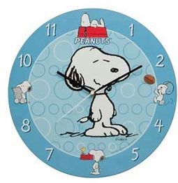 "Peanuts - 13.5"" Wood Wall Clock"