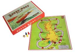 Retro Toy - Speed Boat Race Vintage Board Game