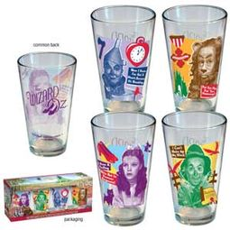 The Wizard of Oz - Retro 4-Pack Pint Glasses