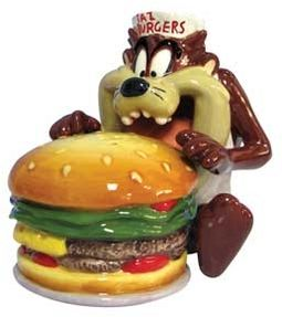 Looney Tunes - Taz Eating Burger Salt & Pepper
