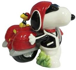 Joe Cool & Motorcycle Salt & Pepper Shakers