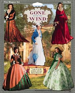 Gone With The Wind - Dresses 5-Pack Magnet Set