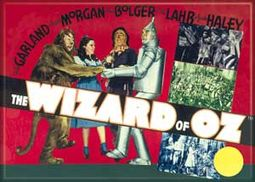 The Wizard of Oz - Film Poster Red Photo Magnet